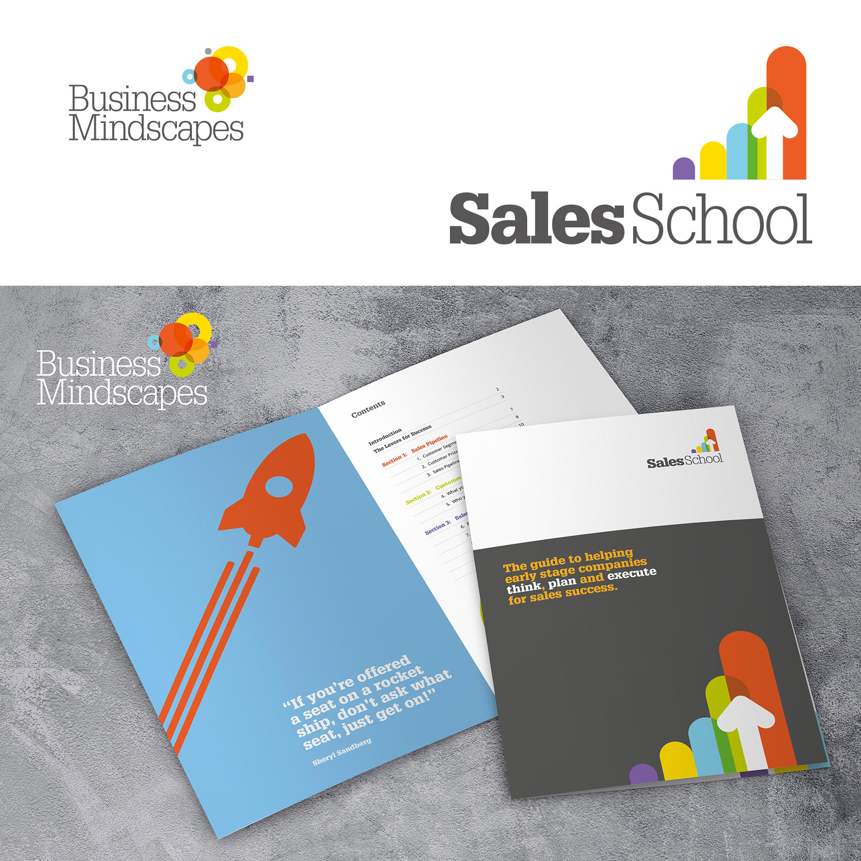 business mindscapes sales school brochures